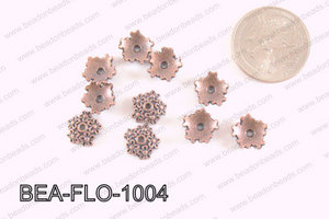 Flower Beadcap Copper 10mm BEA-FLO-1004