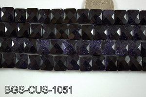 Blue Gold Stone Cushion 10x12mm BGS-CUS-1051