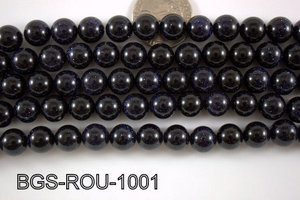 Blue Gold Stone Round 10mm BGS-ROU-1001
