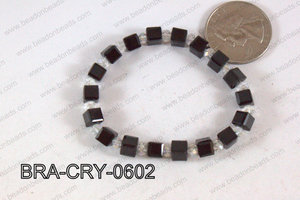 Crystal Cube Bracelet Black 6mm BRA-CRY-0602
