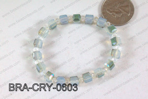 Crystal Cube Bracelet Opal 6mm BRA-CRY-0603