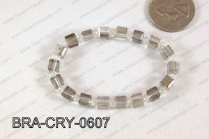 Crystal Cube Bracelet Grey 6mm BRA-CRY-0607