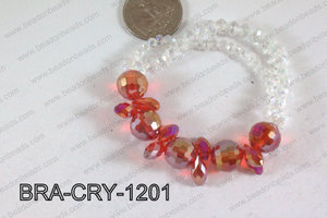 Crystal Bracelet Red 12mm BRA-CRY-1201