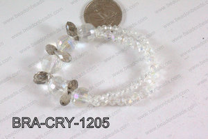 Crystal Bracelet Clear AB/Smoky 12mm BRA-CRY-1205