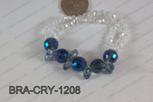 Crystal Bracelet Dark Blue 12mm BRA-CRY-1208