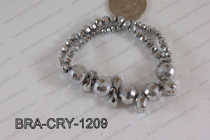 Crystal Bracelet Silver 12mm BRA-CRY-1209