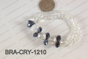 Crystal Bracelet Clear/Black 12mm BRA-CRY-1210