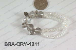 Crystal Bracelet Smoky 12mm BRA-CRY-1211