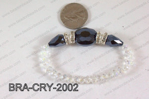 Crystal Bracelet Hematite 20x16mm BRA-CRY-2002