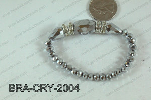 Crystal Bracelet Silver 20x16mm BRA-CRY-2004