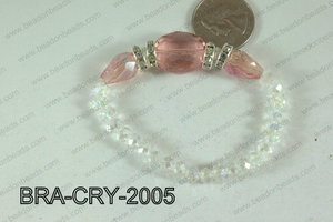 Crystal Bracelet Peach 20x16mm BRA-CRY-2005