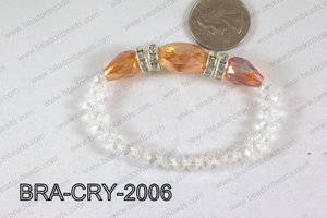 Crystal Bracelet Orange AB 20x16mm BRA-CRY-2006