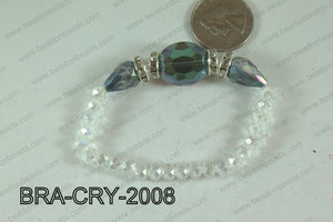 Crystal Bracelet Green/Wine 20x16mm BRA-CRY-2008