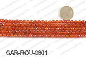 CARNELIAN FACETED ROUND 6mm CAR-ROU-0601