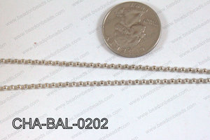 Ball Chain Dark Silver 2mm CHA-BAL-0202
