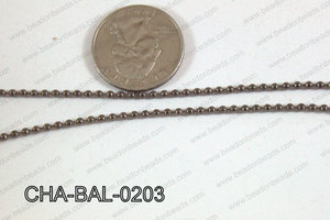 Ball Chain Gun Metal 2mm CHA-BAL-0203