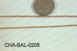 Ball Chain Rose Gold 2mm CHA-BAL-0205