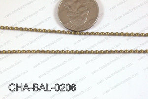 Ball Chain Bronze 2mm CHA-BAL-0206