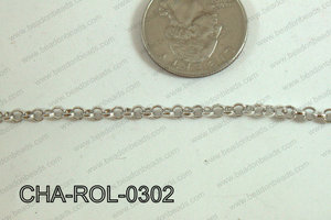 Rolo Chain Dark Silver 3mm CHA-ROL-0302