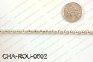 Anti Silver Ball Chain Round 5mm 32.8' CHA-ROU-0502