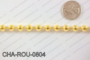 Ball Chain Round Gold 8mm 16.4' CHA-ROU-0804