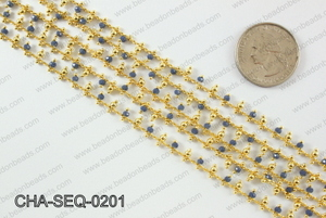 Seed bead dangle chain 2mm CHA-SEQ-0201