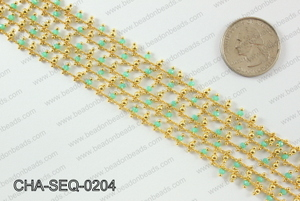 Seed bead dangle chain 2mm CHA-SEQ-0204