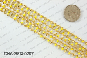 Seed bead dangle chain 2mm CHA-SEQ-0207