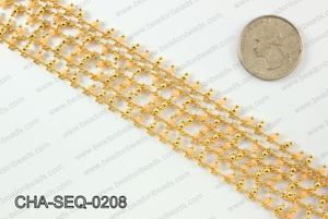 Seed bead dangle chain 2mm CHA-SEQ-0208