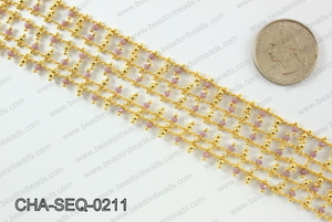 Seed bead dangle chain 2mm CHA-SEQ-0211