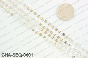 Coin sequin chain 4mm, silver CHA-SEQ-0401
