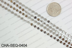 Coin sequin chain 4mm, gunmetal CHA-SEQ-0404