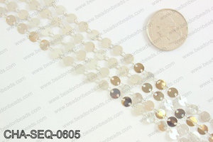Coin sequin chain 6mm, silver CHA-SEQ-0605