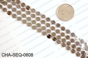 Coin sequin chain 6mm, gunmetal CHA-SEQ-0608