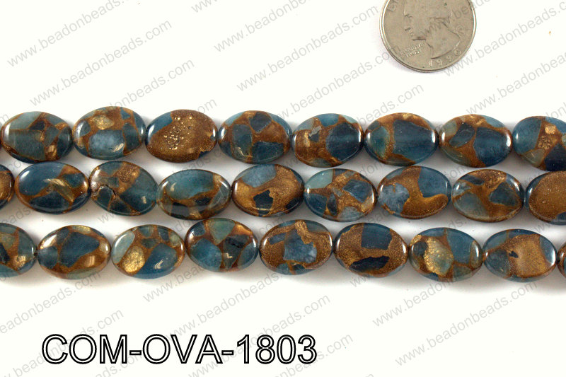 Composite Golden Quartz Oval 14x18mm COM-OVA-1803