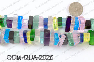 Composite quartz chips 10x20mmCOM-QUA-2025
