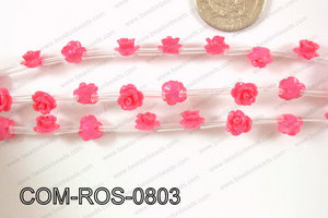 Composite Rose Dark pink 8mm COM-ROS-0803