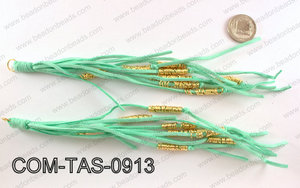 SUEDE LEATHER TASSELS COM-TAS-0913