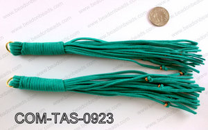 SUEDE LEATHER TASSELS COM-TAS-0923