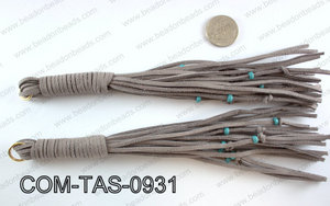SUEDE LEATHER TASSELS COM-TAS-0931