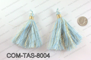 Thread tassels 90mm, Light blueCOM-TAS-8004