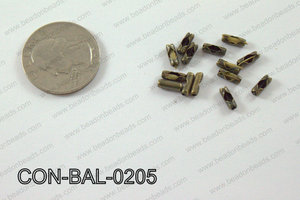Ball chain connector around 3x8 mm brass CON-BAL-0205