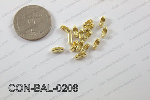 Ball chain connector around 3x8 mm champagne gold  CON-BAL-0208