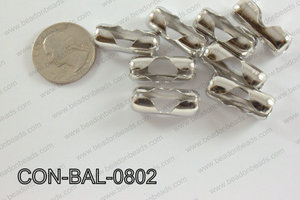Ball chain connector around 10x24 mm dark silver  CON-BAL-0802