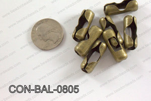 Ball chain connector around 10x24 mm brass  CON-BAL-0805