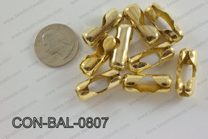 Ball chain connector around 10x24 mm champagne gold CON-BAL-0807