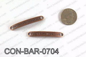 Curved bar connector 7x50mm, Copper CON-BAR-0704