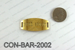 Free spirit bar connector 20x45mm, Gold CON-BAR-2002