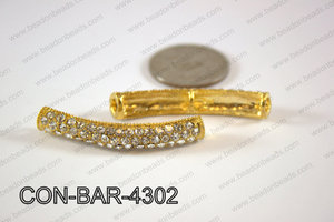 Sideway Bar connector Gold 8x43mm CON-BAR-4302