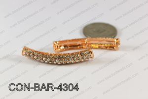 Sideway Bar connector Rose gold 8x43mm CON-BAR-4304